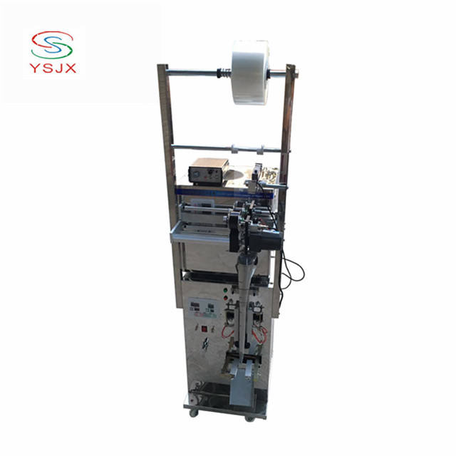 High quality screw nail automatic counting trilateral sealing packaging machine