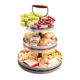 Serving Tray 3 Serving Tray Party Galvanized 3 Tier Serving Stand Tray With Handle