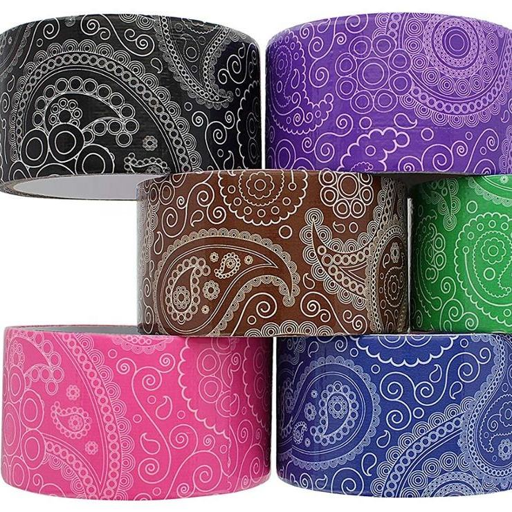 Paisley series heavy duty duct tape i assorted colors pack of 6 rolls printed tapes for party decorations