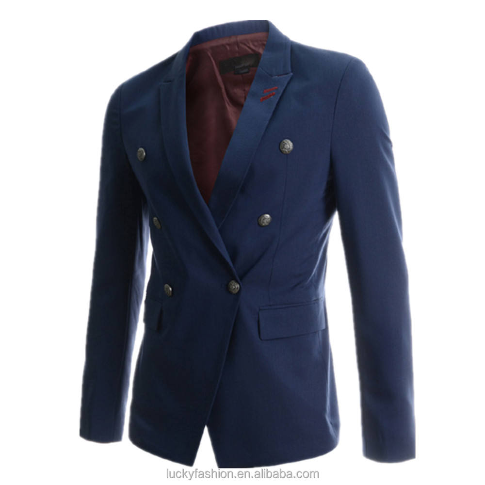 New Stylish Multi Colored Design Slim Fit Knitted Casual Formal Mens Blazer