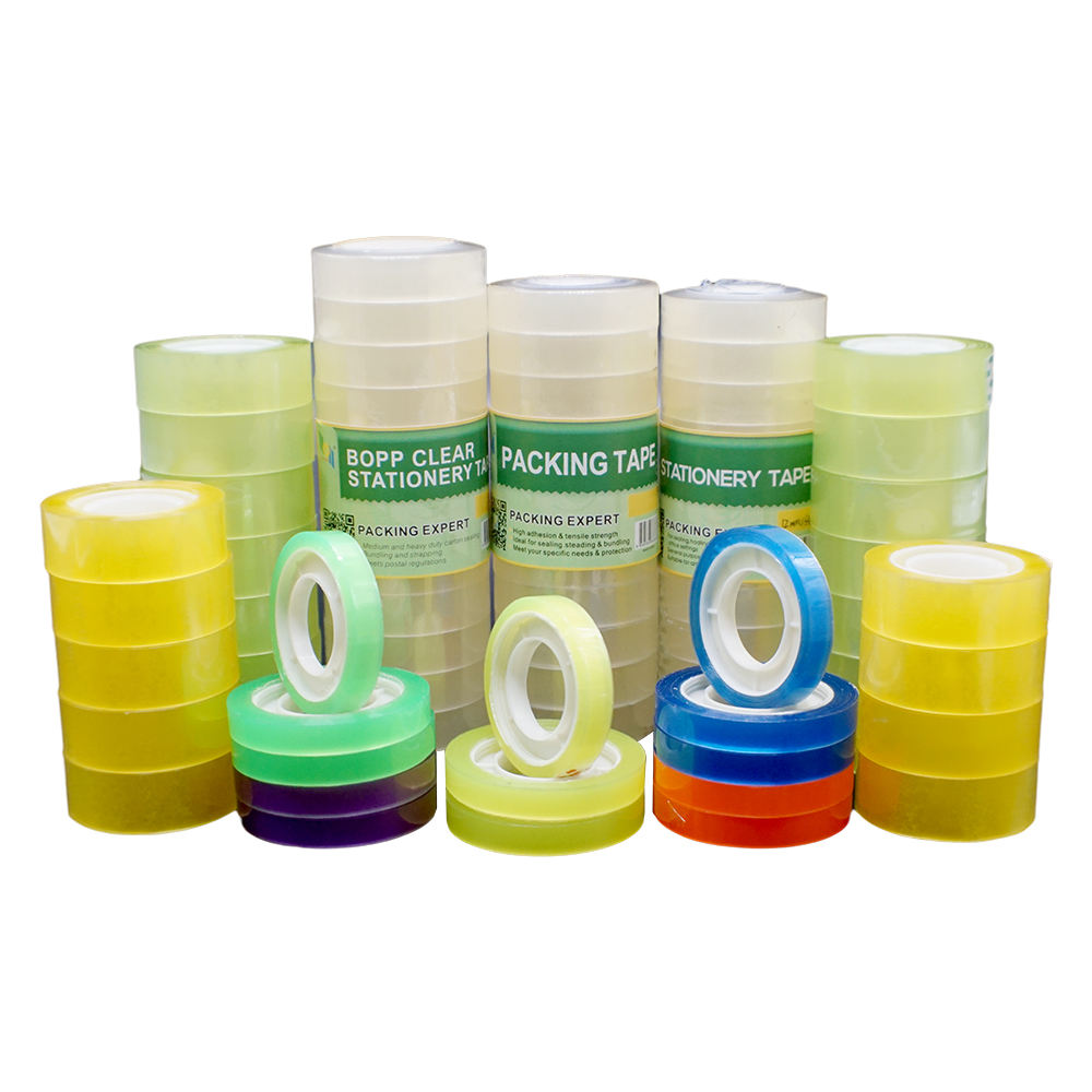 Waterbased Super Clear Packaging Office Use Individual 18mm School Bopp Stationery Tape