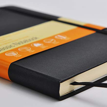 Classic Notebook Field Notes JournalとPocket Hard Cover Elastic Moleskine Leather Notebook