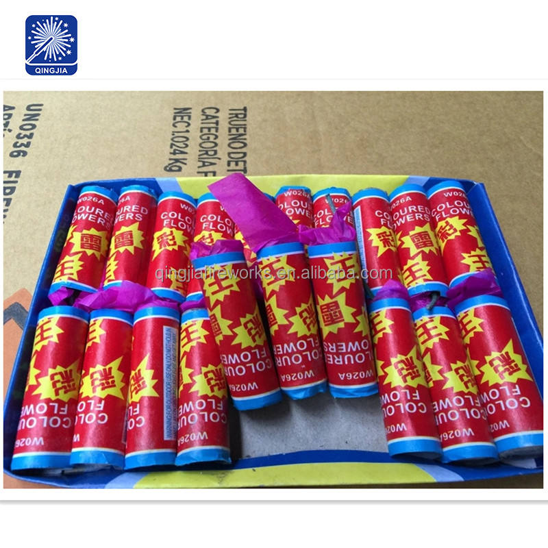 W026A thumder king un0336 crackers fireworks colour flower fireworks