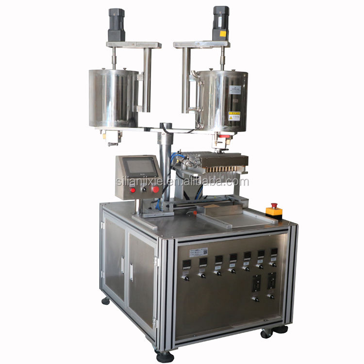 12 heads filling machine for lipstick Double Barrel filling machine