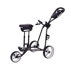 Hot Sale Golf 3 Wheel Push Cart Trolley Easy Fold Push Golf Cart
