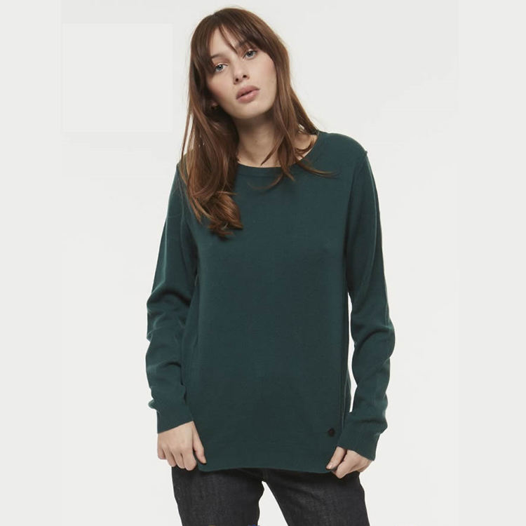 Women Green Sexy Cashmere Sweater Pullover