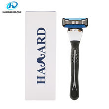 (OEM)USA Original imported 5 blade with trimmer for metal rubber handle razor