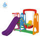 YF-05021 amusement park children room colorful kids plastic slide and swing indoor playground equipment kids slide and swing set