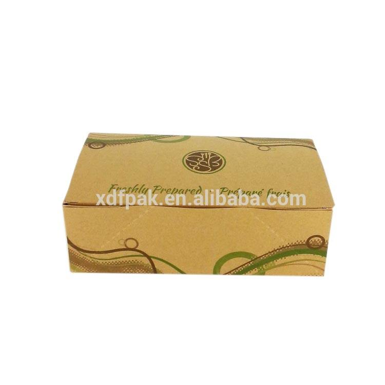 Wholesale folding take away snack box One time fast food packed lunch box fruit dessert fried chicken snack take out box