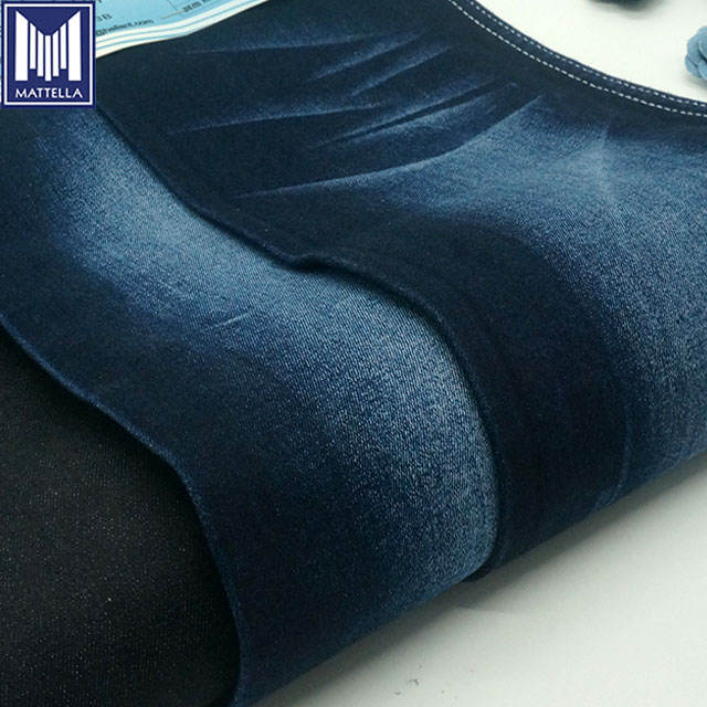 K7791 ring spinning wholesale high elasticity stretch 98% cotton 2% spandex lycra denim fabric for woman jeans