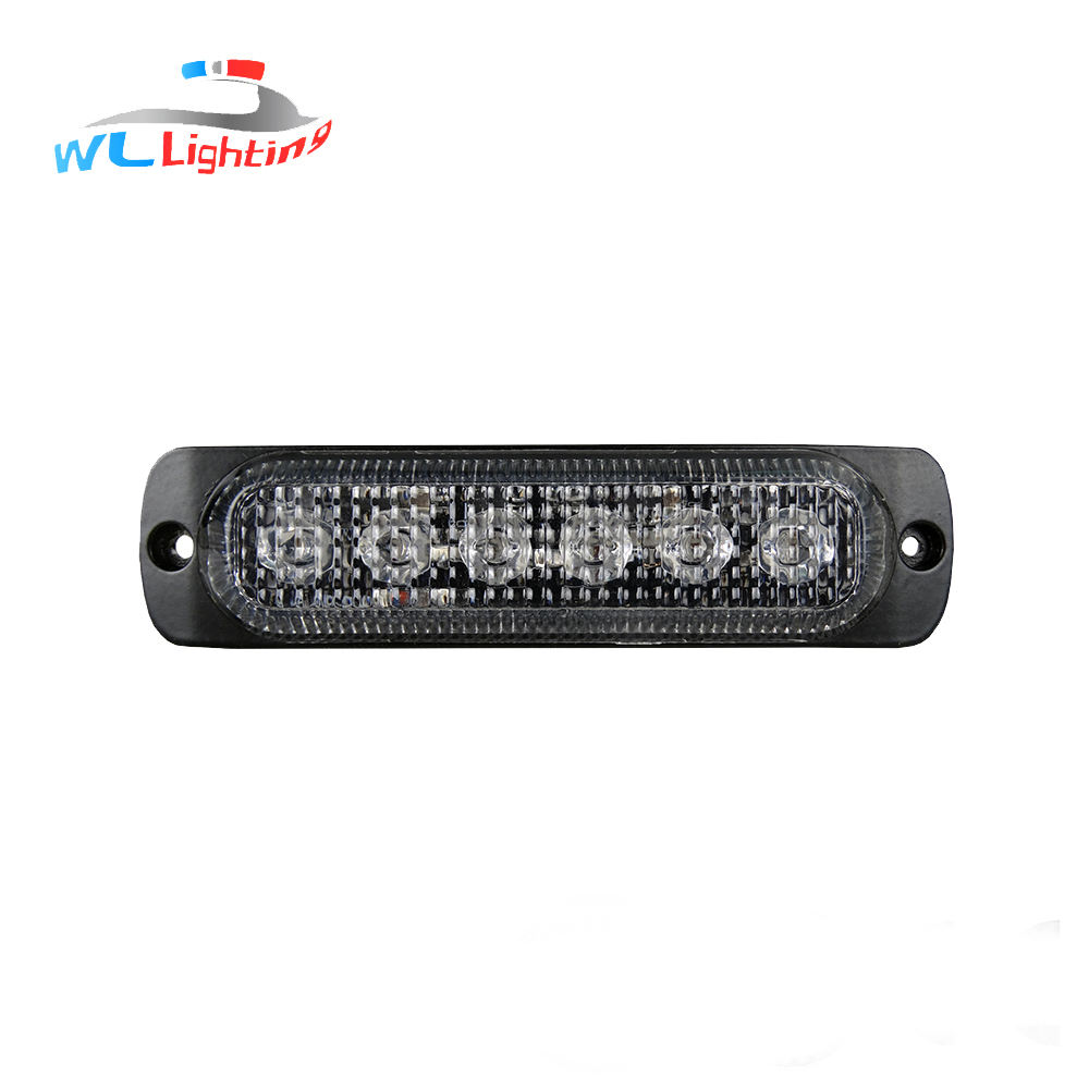 GDWLLIGTING 6 R65 3 W LED Truck Grille Strobe Amber Wit Blauw Rood Groen Verlichting