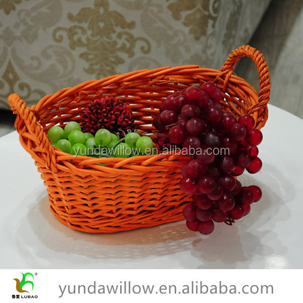 Wicker Dry Fruit Decoration Tray Holder