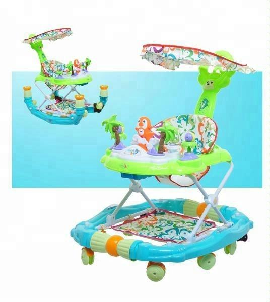360 degree rotating new model round outdoor baby walker