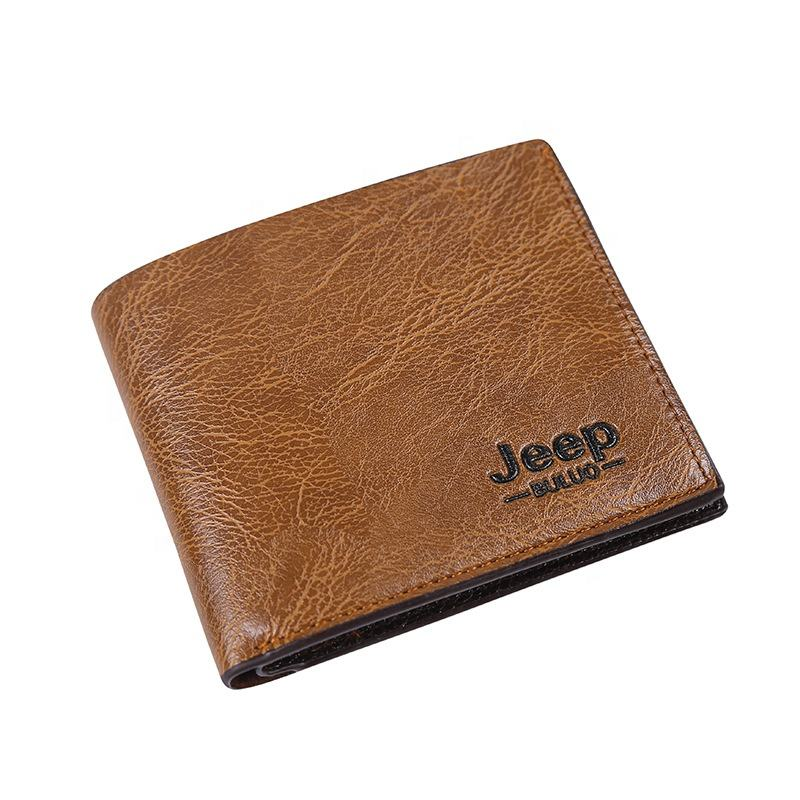 Wholesale Custom Amazon Best Selling Slim Card Holder billfold Wallet Men PU Leather Short Purse Men's Wallet