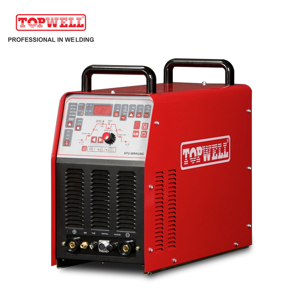 Topwell STC-205AC/DC igbt inverter ac dc tig+mma+plasma cutting 4in1 welding machine