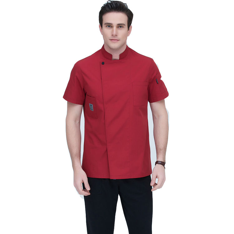 Witte Kleur Poly katoen Hotel/Restaurant Chef Uniform Twill Stof <span class=keywords><strong>Jas</strong></span>/<span class=keywords><strong>Chef-kok</strong></span> <span class=keywords><strong>Jas</strong></span>