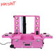 Yaeshii 2 In 1 Beauty Vanity Trolleys Portable Cosmetic Make Up Case With Light Mirror