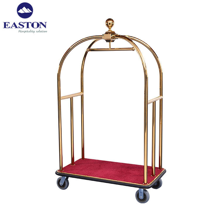 Stainless Steel Hotel Crown Luggage Cart/Birdcage Trolleys Luggage Carts