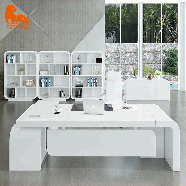 High Quality Modern office Furniture white office desks for home and office