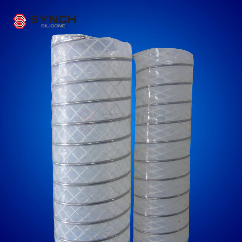 Stainless Steel Spring Reinforced Silicone Hose for bio process equipments