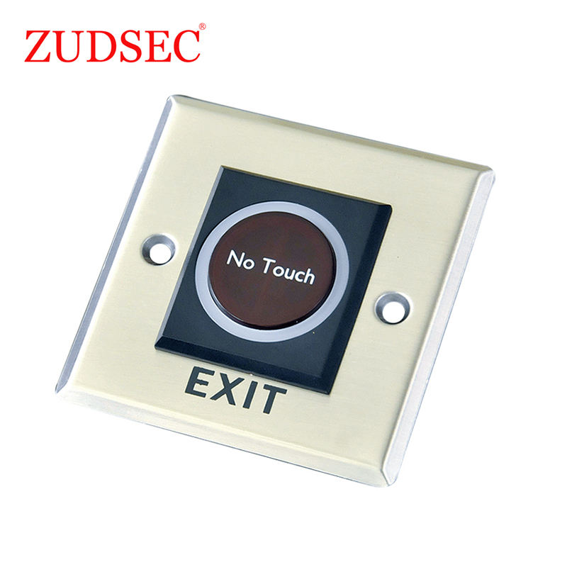 DC12V Infrared Sensor No Touch Door Release Exit Button with LED Light for Gate/Door/Exit/Automation Control