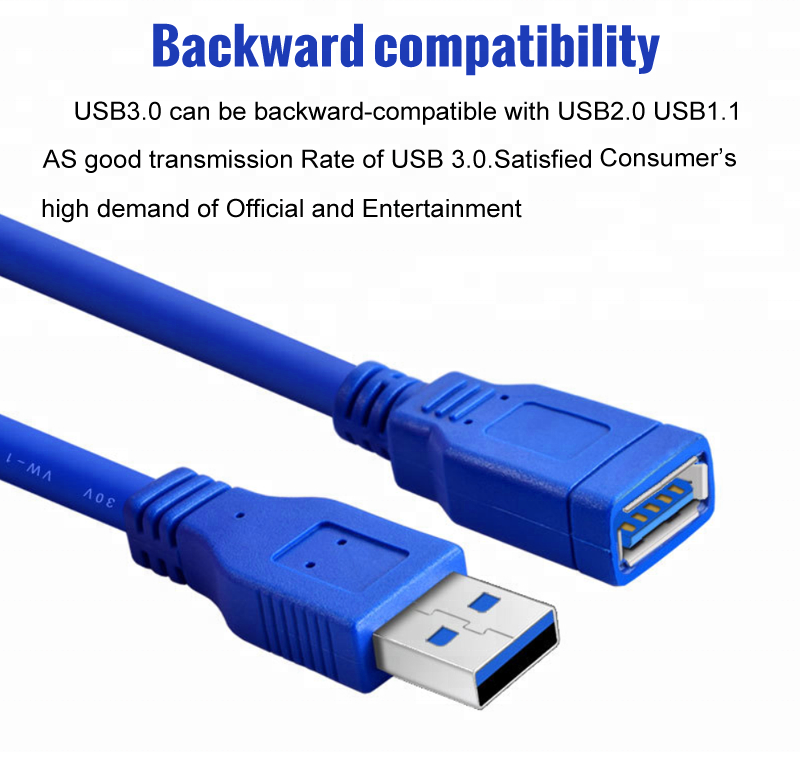 USB3.0 Extension Cable Wire Male To Female High Speed 5Gbps Data Sync 1//1.5//1.8m