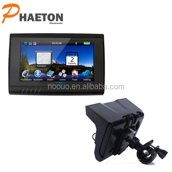 Hot 5 inch Waterproof GPS Sat nav For All Vehicle GPS Wince 6.0 System Motorcycle gps