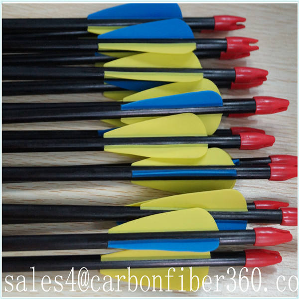 "fiberglass arrow 28"" - 32"" with steel point & plastic vane wholesale for ourdoor hunting shooting archery & bow"