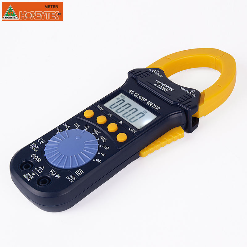 A3380B Digital Multimeter meter tester Electronic Clamp Meter AC Voltage Current Tester Volt Ampere Ohm Meter tester