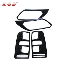 body kit matte black chrome rear tail lamp cover headlight covers for Chevrolet Colorado accessories