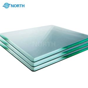 Good price 6mm thick clear tempered toughened beveled Glass
