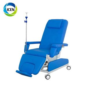 IN-O007-1 Hospital Lab Medical Equipment Used Manual Blood Donation Phlebotomy Chair Electric Dialysis Therapy Chair