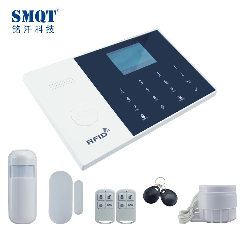 House Security Burglar 2G 3G 4G GSM Alarm System with APP control