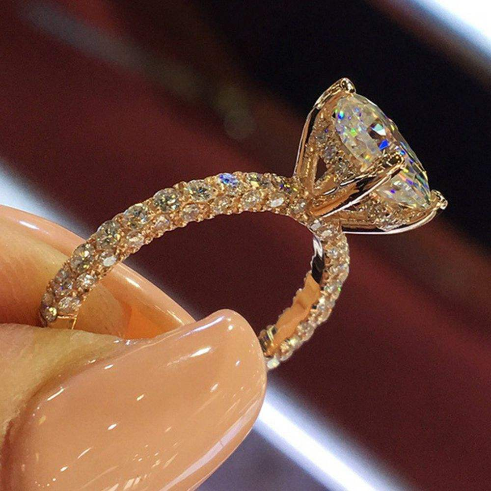R591 Huilin fashion Wedding Rings Jewelry Women big diamond Rings Women Wholesale