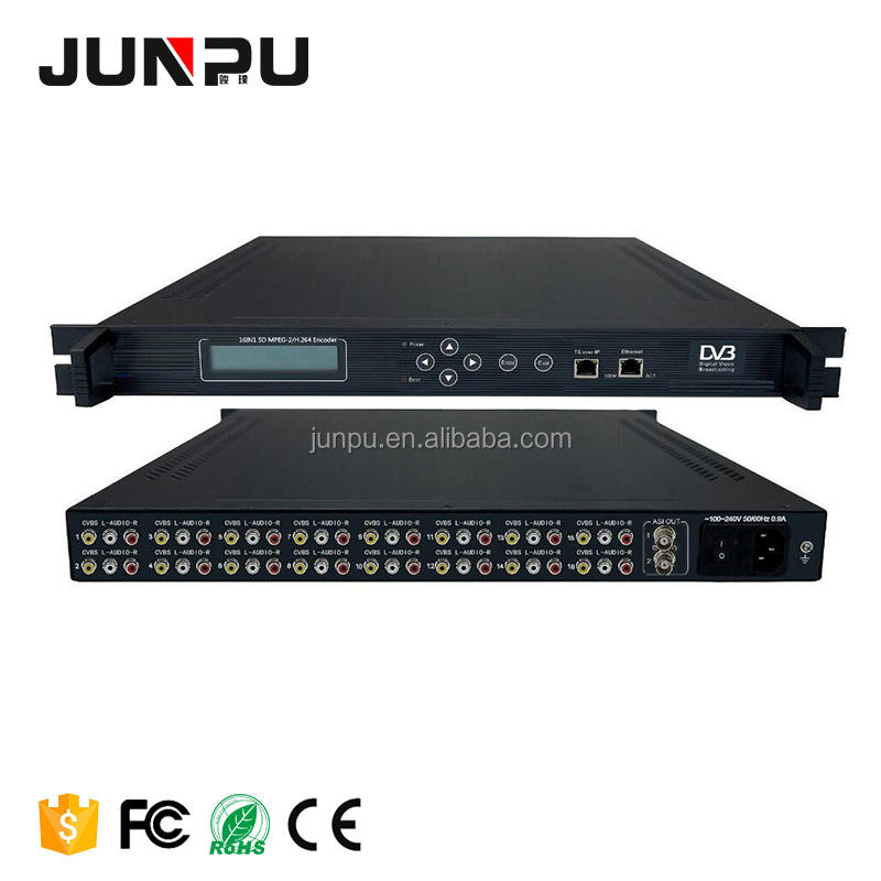 16 Channel Di Mpeg2 Encoder Video untuk IP Encoder H.264 16 * CVBS Video