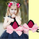 Cute Bling Bowknot Hairpin Lovely Girls Hair Clips Cat Ears Hairclip for Hair Ornaments the Best Gift for Kids