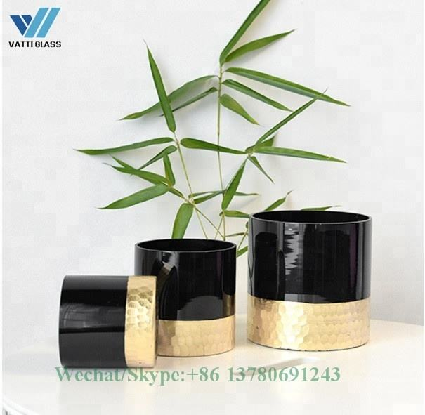 Electroplated glass candle holder, votive candle jars for sale