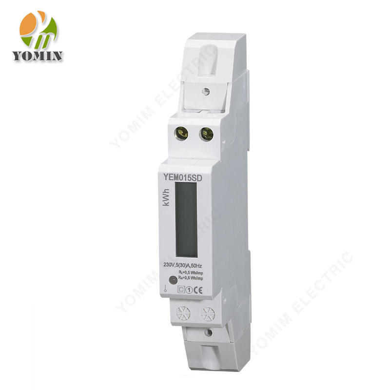 Single Phase Two Wire 1 Pole Digital KWh Electronic Power Energy Meter with LCD Display