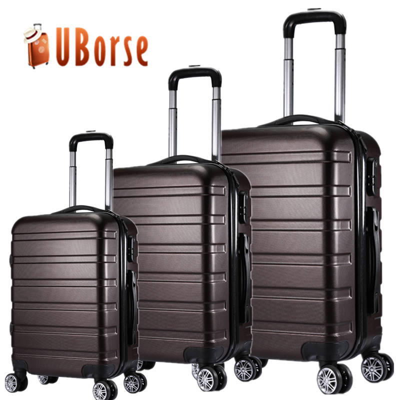 Retractable 24 Inch Aluminum Frame Password Leather Case Color : Blue, Size : 20 inches HUANGA Luggage Trolley Case Large Capacity Anti-Collision Suitcase