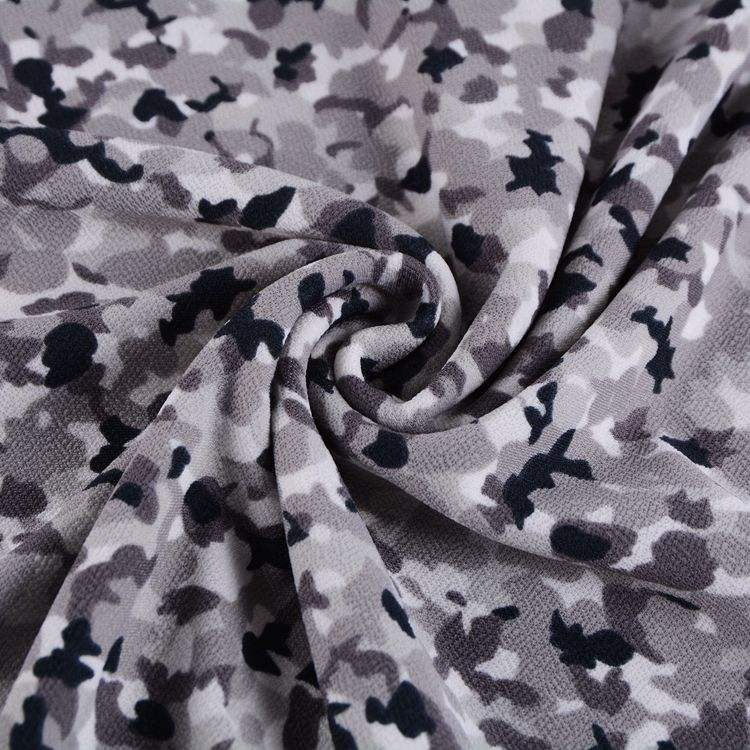 95% polyester 5% lycra digital camouflage design knitted interlock jersey fabric by yard
