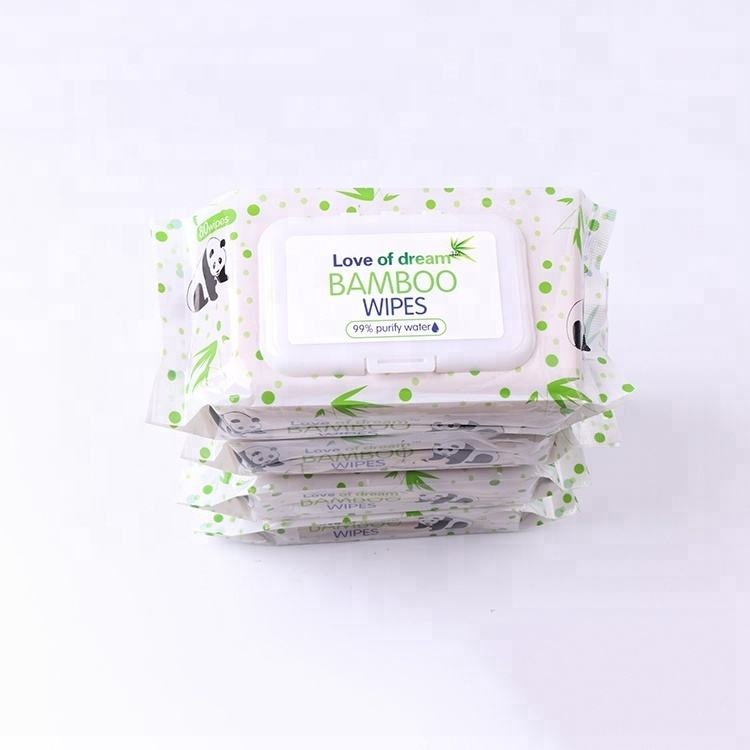 Baby Cleaning Wipes Babywipes Custom Biodegradable Disposable Body Organic Baby Wipes Wet Bamboo Cleaning Wipes