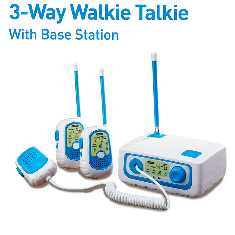 Kids outdoor game range up 240 feet cell phone walkie talkie toys with base station