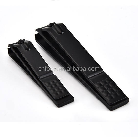 Fashion Black Nail Clipper / Stainless Steel Sharp Cutter / Toenail Travel Manicure Pedicure Tools