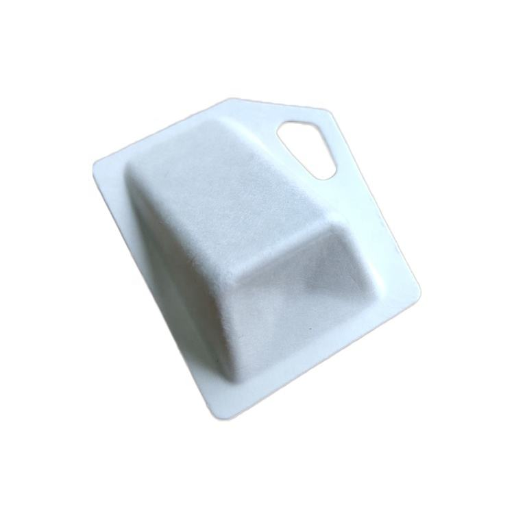 Hot Stamping [ Fiber Pulp ] Pulp Paper Pulp Packaging Custom Sustainable Molded Fiber Pulp Paper Packaging Tray