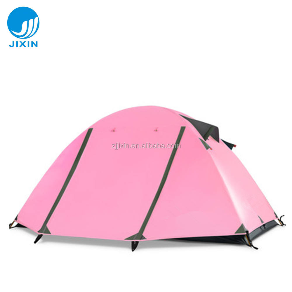Fashion Outdoor pink 2 persons camping tent