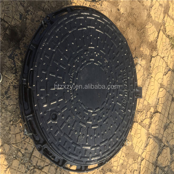 Chinese Cast iron foundry made EN124 Standard D400 Ductile Iron Sewer Cover and Frame