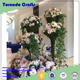 2017 Floral Showroom Decor Peony and Hydrangea Silk Flower Arrangement with Feathers