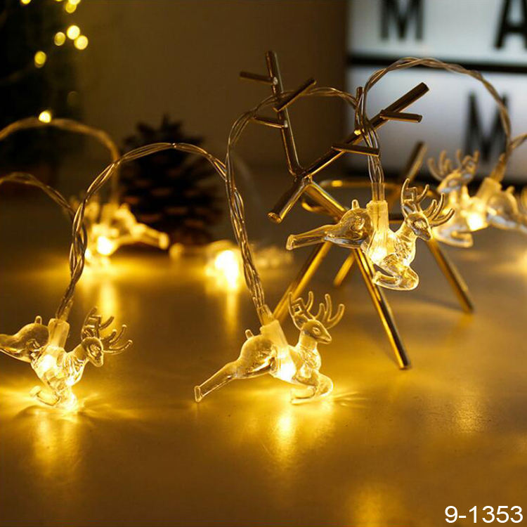 1.5m Deer Elk Shaped String Night Light for Merry Christmas Party Room Wedding Party Room Decoration