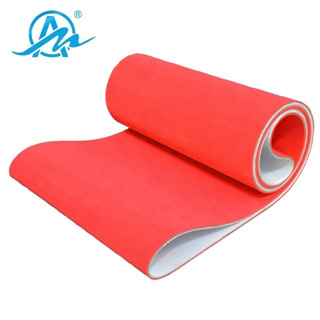 Red rubber coated pvc conveyor belt used in ceramic industry