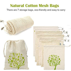 Recyclable GOTS Certified Bread Organic Cotton Textile Fabric Reusable Produce Bag